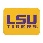 Logotipo púrpura de los tigres de LSU Imanes Rectangulares