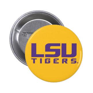 Logotipo púrpura de los tigres de LSU Pin Redondo De 2 Pulgadas
