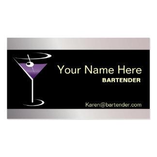 Logotipo púrpura de Martini de la tarjeta de visit Tarjeta De Visita