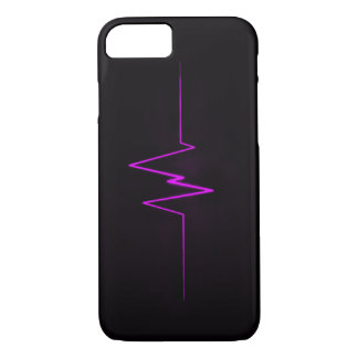 Logotipo púrpura del relámpago del CUCHILLO LARGO Funda iPhone 7