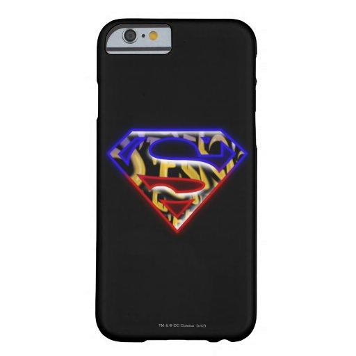 Logotipo Púrpura-Rojo del superhombre de la Funda Para iPhone 6 Barely There