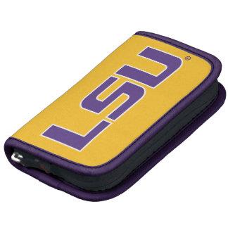 Logotipo púrpura y blanco de LSU Organizadores