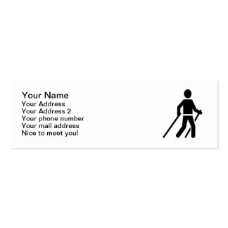 Logotipo que camina nórdico tarjetas de visita mini