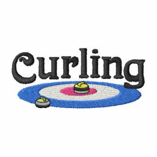 Logotipo que se encrespa chaqueta bordada