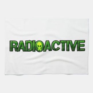 Logotipo radiactivo de la máscara toalla