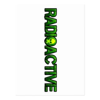 Logotipo radiactivo de la máscara postal