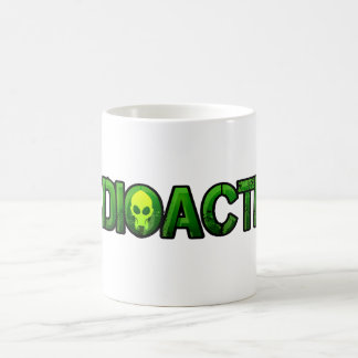 Logotipo radiactivo de la máscara taza