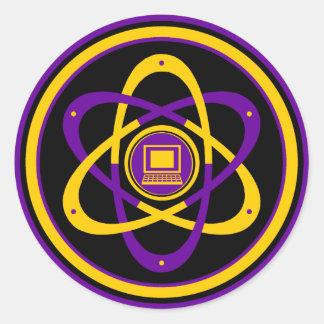 Logotipo radiactivo de Netsurfer Etiqueta