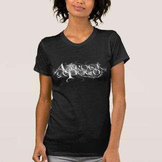 Logotipo rasgado - para mujer - negro camisetas