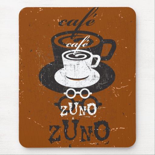 Logotipo rasguñado Zuno 03 del café Tapete De Ratones