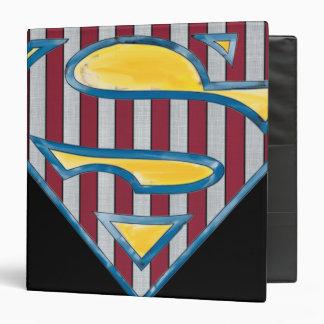 """Logotipo rayado del S-Escudo el   del superhombre Carpeta 1 1/2"""""""