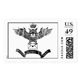 Logotipo real del vintage del poste del búho sellos