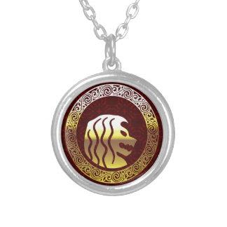 Logotipo real del vintage redondo del león colgante redondo