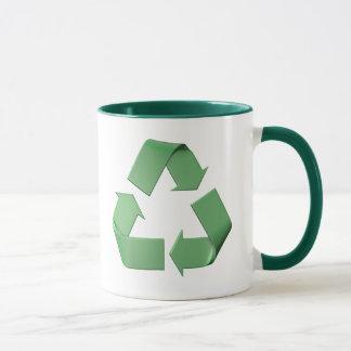 Logotipo reciclaje taza