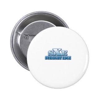 Logotipo recto del azul del borde pins