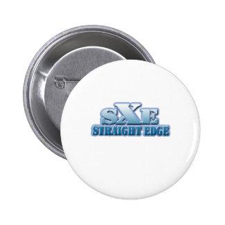 Logotipo recto del azul del borde pin