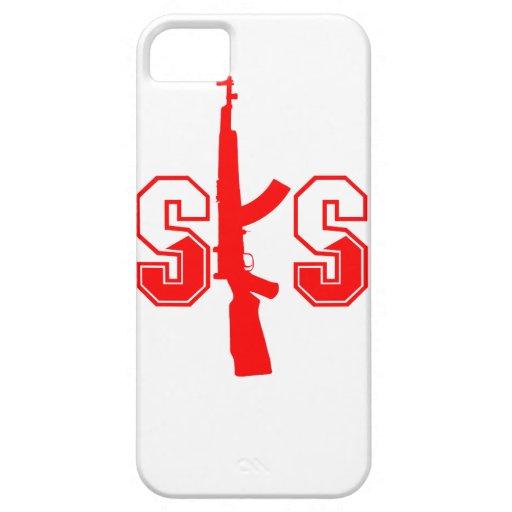 Logotipo Red.png del rifle de asalto de SKS iPhone 5 Fundas