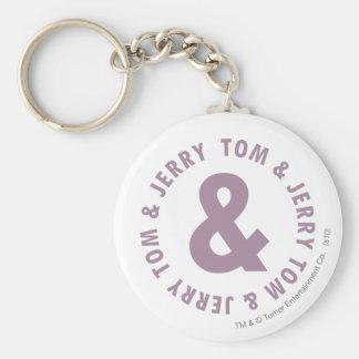 Logotipo redondo 10 de Tom y Jerry Llaveros Personalizados