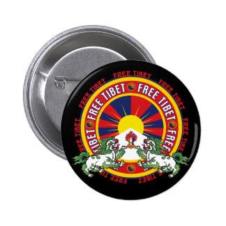 Logotipo redondo libre de Tíbet Pin Redondo De 2 Pulgadas