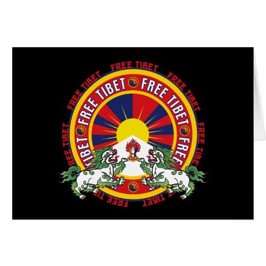 Logotipo redondo libre de Tíbet Tarjeta De Felicitación