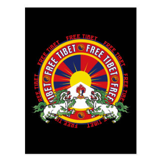 Logotipo redondo libre de Tíbet Postales