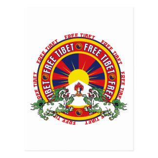 Logotipo redondo libre de Tíbet Postal