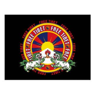 Logotipo redondo libre de Tíbet Tarjeta Postal