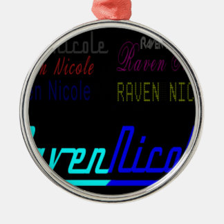 Logotipo regular de Nicole del cuervo y nombres Adorno Navideño Redondo De Metal