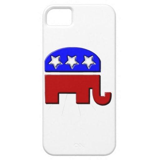 Logotipo republicano del elefante iPhone 5 fundas