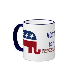 Logotipo republicano del elefante taza de dos colores