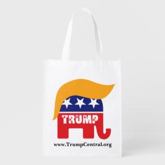 Logotipo republicano del pelo del elefante de bolsa para la compra