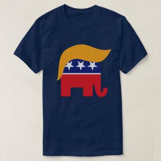 Logotipo republicano del pelo del elefante de playera