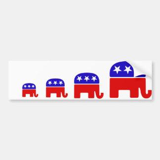 Logotipo republicano pegatina para auto