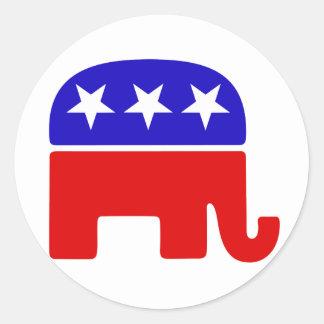 Logotipo republicano pegatina redonda