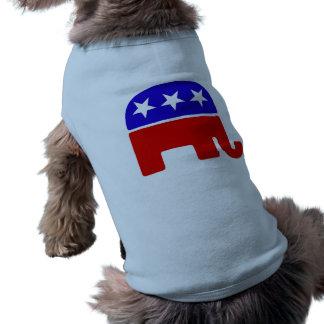 Logotipo republicano playera sin mangas para perro