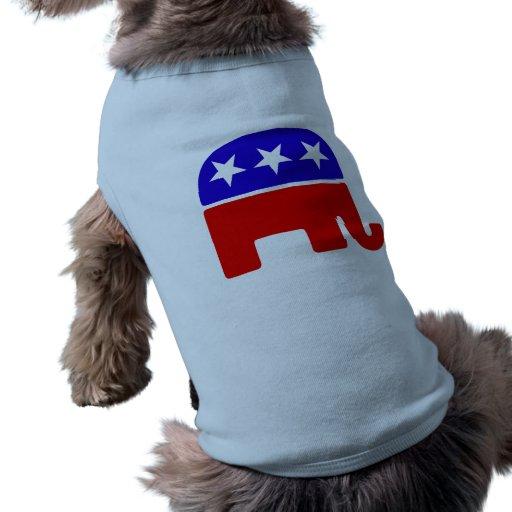 Logotipo republicano camisa de perro