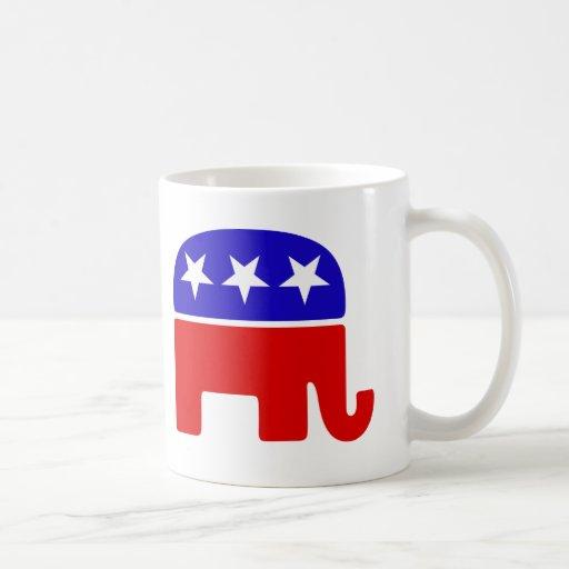 Logotipo republicano tazas de café