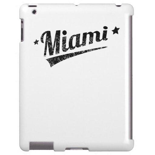 Logotipo retro apenado de Miami