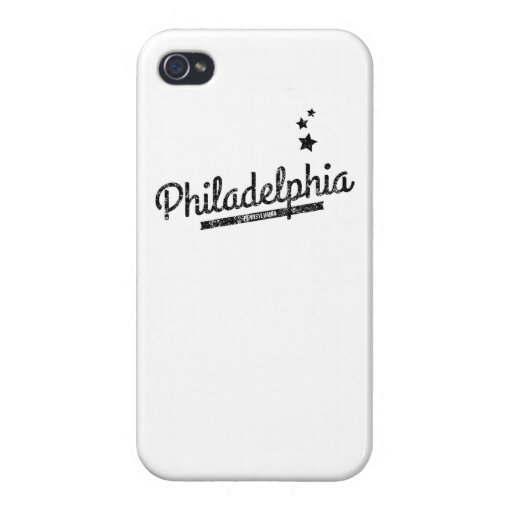 Logotipo retro apenado de Philadelphia iPhone 4/4S Fundas