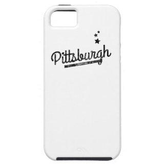 Logotipo retro apenado de Pittsburgh iPhone 5 Carcasa