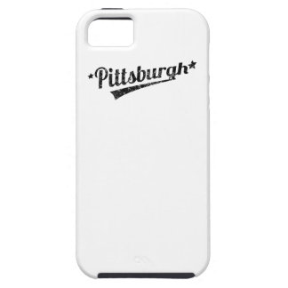 Logotipo retro apenado de Pittsburgh iPhone 5 Cobertura