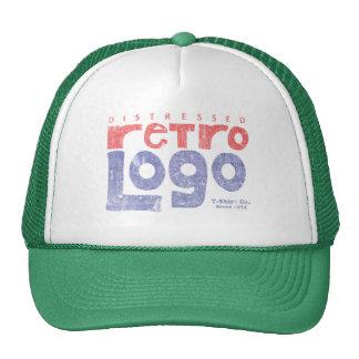 Logotipo retro apenado gorras