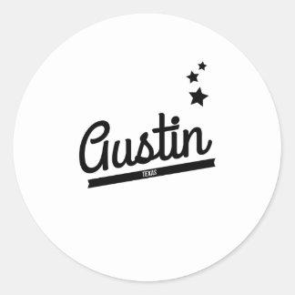 Logotipo retro de Austin Pegatina Redonda