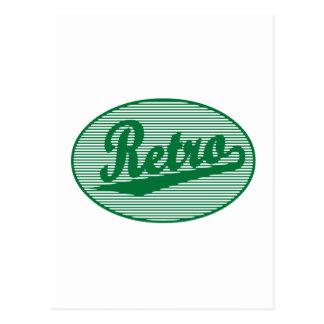 Logotipo retro de la escritura en verde tarjeta postal