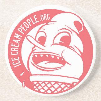 Logotipo retro de la gente del helado posavasos manualidades