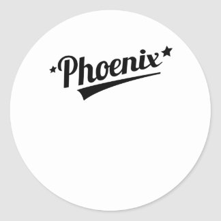 Logotipo retro de Phoenix Pegatinas Redondas