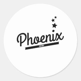 Logotipo retro de Phoenix Etiqueta Redonda