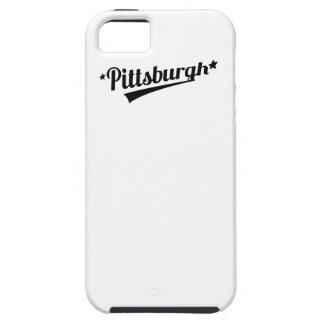 Logotipo retro de Pittsburgh iPhone 5 Cárcasas