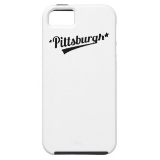 Logotipo retro de Pittsburgh iPhone 5 Case-Mate Cobertura