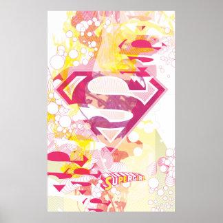 Logotipo retro de Supergirl Póster